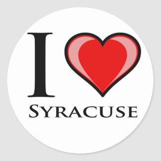 I Love Syracuse Classic Round Sticker