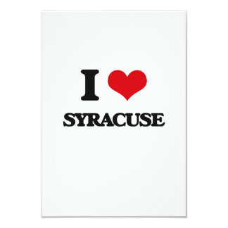 I love Syracuse 9 Cm X 13 Cm Invitation Card