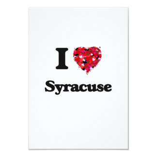 I love Syracuse New York 9 Cm X 13 Cm Invitation Card