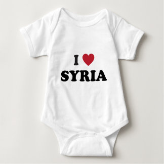 I Love Syria Baby Bodysuit