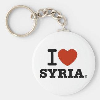 I Love Syria Basic Round Button Key Ring