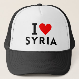 I love Syria country like heart travel tourism Trucker Hat