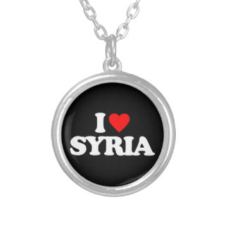I LOVE SYRIA SILVER PLATED NECKLACE
