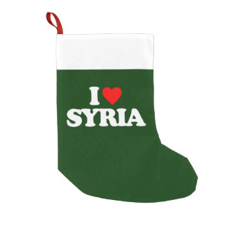 I LOVE SYRIA SMALL CHRISTMAS STOCKING
