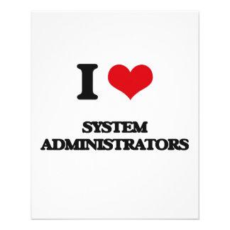 I love System Administrators Full Color Flyer