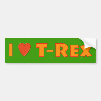 I Love T-Rex Tyrannosaurus Rex Dinosaur Lovers Bumper Sticker