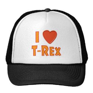 I Love T-Rex Tyrannosaurus Rex Dinosaur Lovers Hat