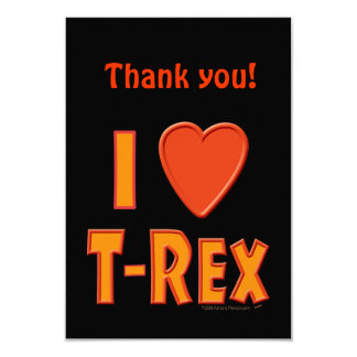 I Love T-Rex Tyrannosaurus Rex Dinosaur Lovers Personalized Announcement