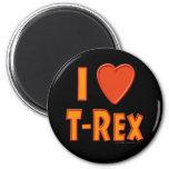 I Love T-Rex Tyrannosaurus Rex Dinosaur Lovers Fridge Magnets