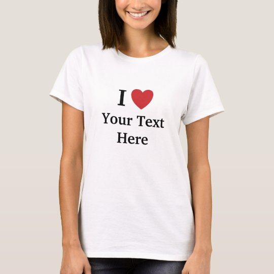 I Love T Shirt - Womens - Add