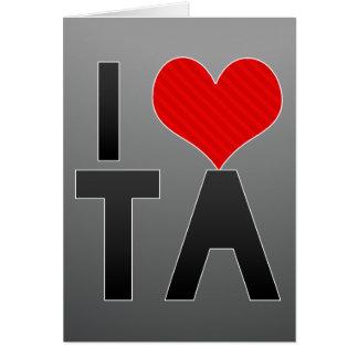 I Love TA Cards
