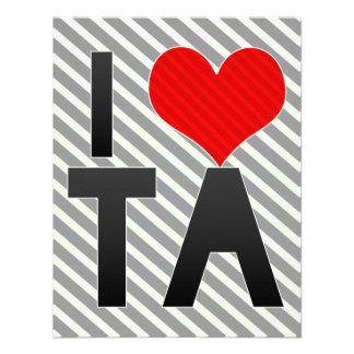I Love TA Invites