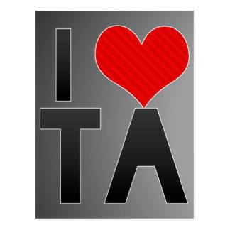 I Love TA Postcard