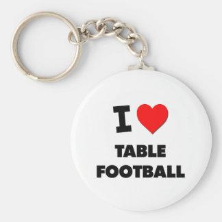 I Love Table Football Key Chain