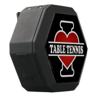 I Love Table Tennis Black Boombot Rex Bluetooth Speaker