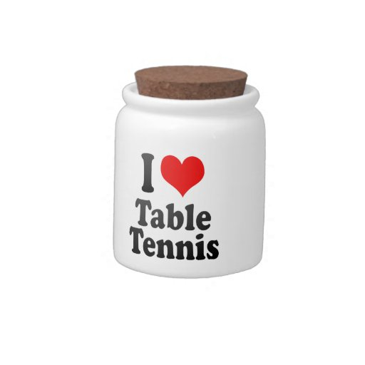 I love Table Tennis Candy Dishes
