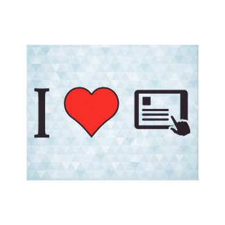 I Love Tablets Stretched Canvas Print