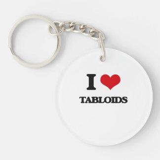 I love Tabloids Single-Sided Round Acrylic Keychain