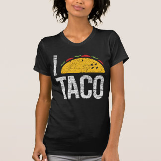 I Love Taco Black T-Shirt