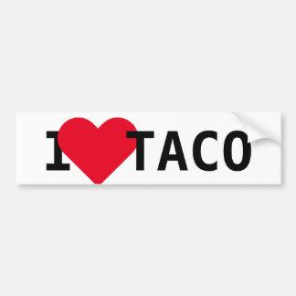 I Love Taco Bumper Sticker