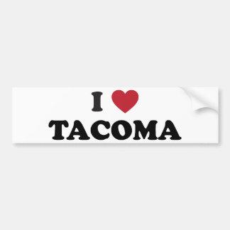 I Love Tacoma Washington Bumper Sticker