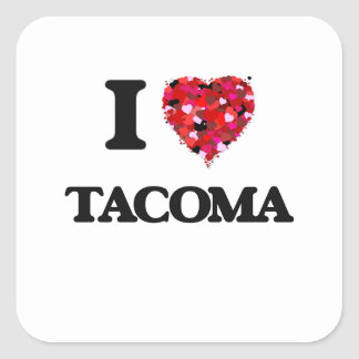 I love Tacoma Washington Square Sticker
