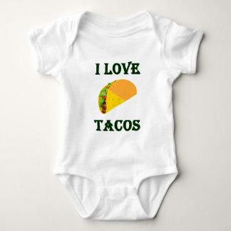 I LOVE TACOS BABY BODYSUIT