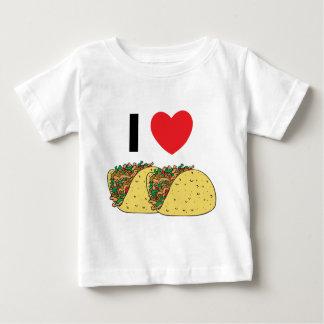 I Love Tacos Baby Tee Shirts