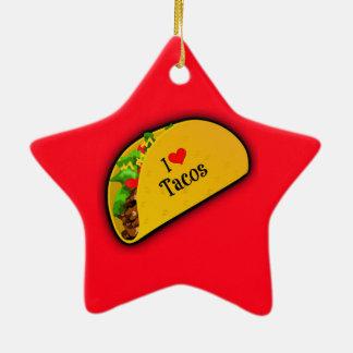 I Love Tacos Christmas Ornament