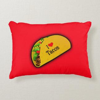 I Love Tacos Decorative Cushion