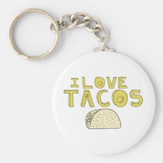 I LOVE TACOS KEY RING