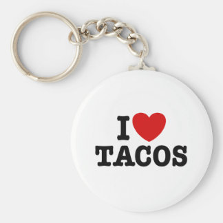 I Love Tacos Key Ring