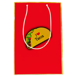 I Love Tacos Medium Gift Bag