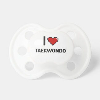 I Love Taekwondo Digital Retro Design Dummy