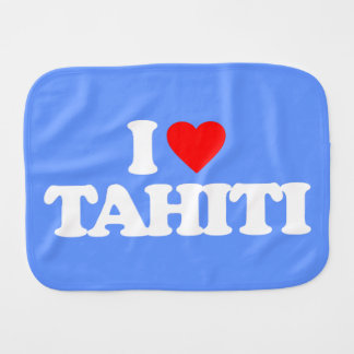 I LOVE TAHITI BURP CLOTH