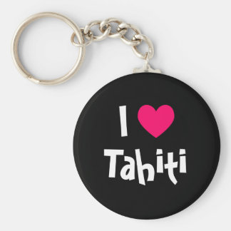 I Love Tahiti Key Ring