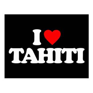 I LOVE TAHITI POSTCARD