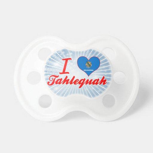 I Love Tahlequah, Oklahoma Baby Pacifier