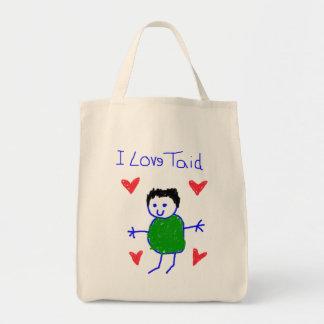 I Love Taid Tote Bag