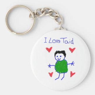 I Love Taid Key Ring