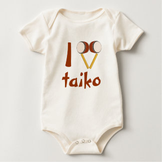 I Love Taiko Drumming Japanese Drums for Babies Bodysuits