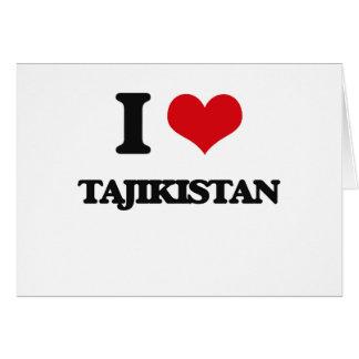 I Love Tajikistan Cards