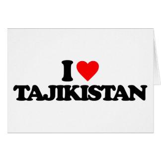 I LOVE TAJIKISTAN CARD