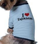 I Love Tajikistan Doggie Tshirt