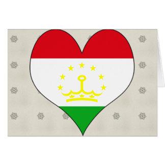 I Love Tajikistan Greeting Card