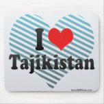 I Love Tajikistan Mouse Pad