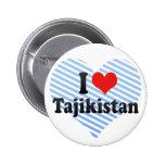 I Love Tajikistan Pinback Buttons