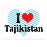 I Love Tajikistan Post Card