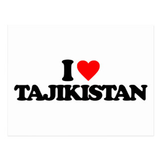 I LOVE TAJIKISTAN POST CARDS