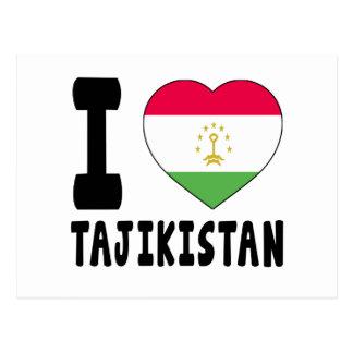 I Love Tajikistan Postcard